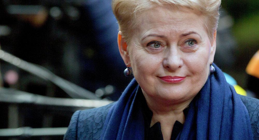 Dalia Grybauskaite, presidenta de Lituania (archivo)