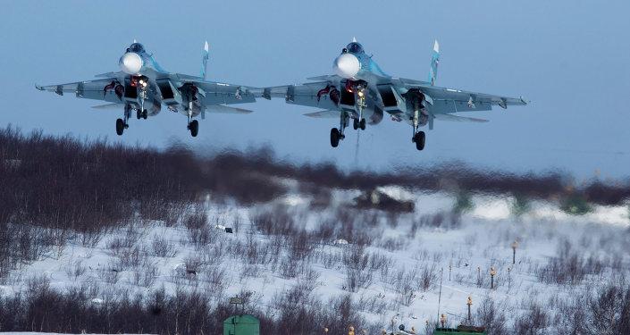 Su-33 del Flota del Norte