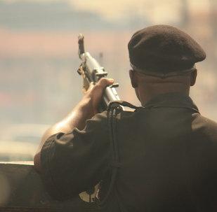 Un soldado armado en Nigeria