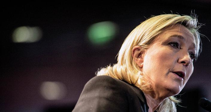 Marine Le Pen, líder del Frente Nacional de Francia