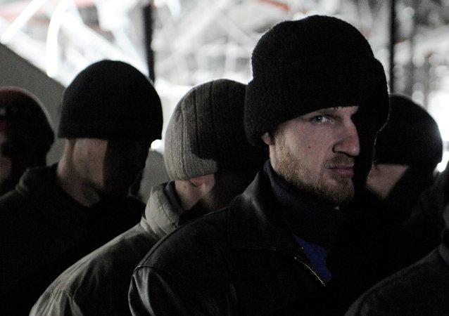 Soldados ucranianos, prisioneros de guerra (Archivo)