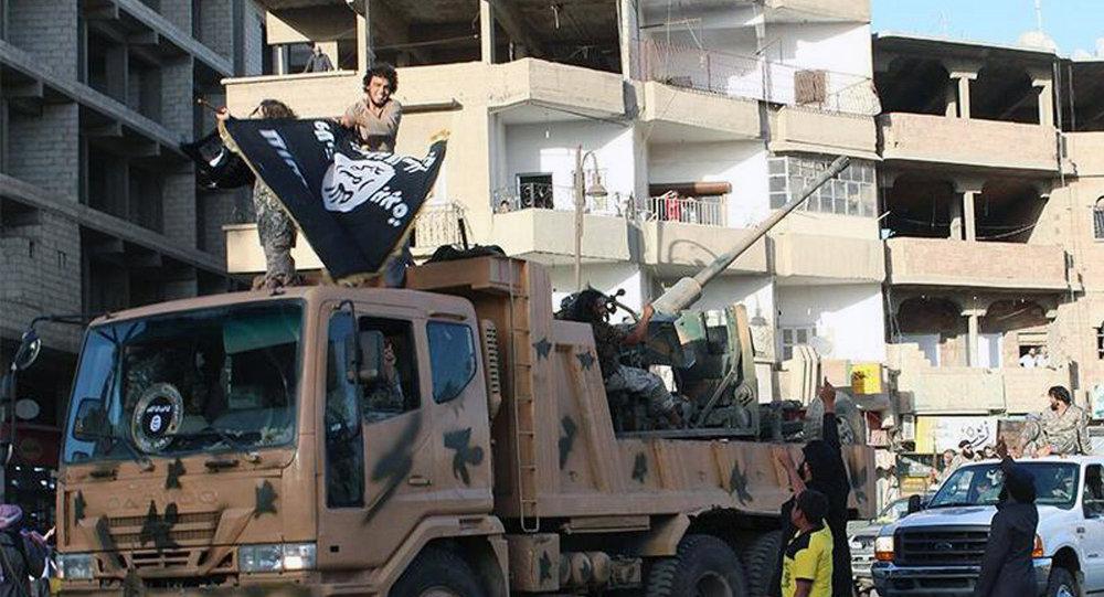Combatientes del grupo yihadista EI