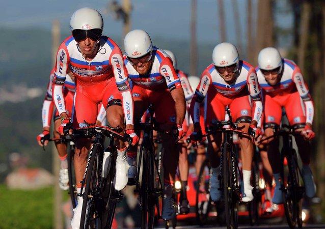 Equipo ciclista ruso Katiusha (Archivo)