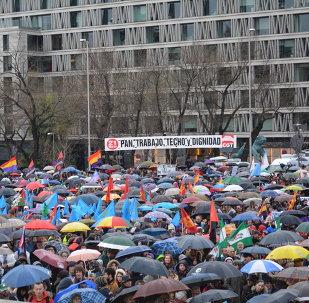Marcha de la Dignidad tuvo lugar en Madrid