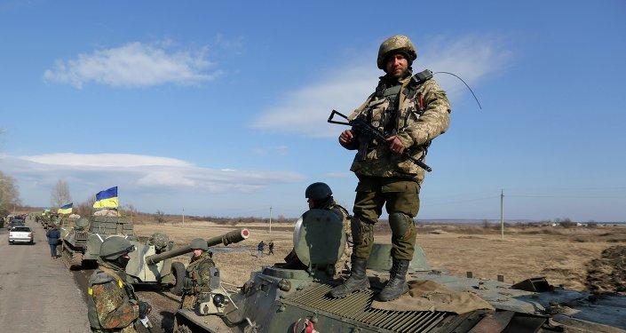 Soldados ucranianos en Donbás (archivo)