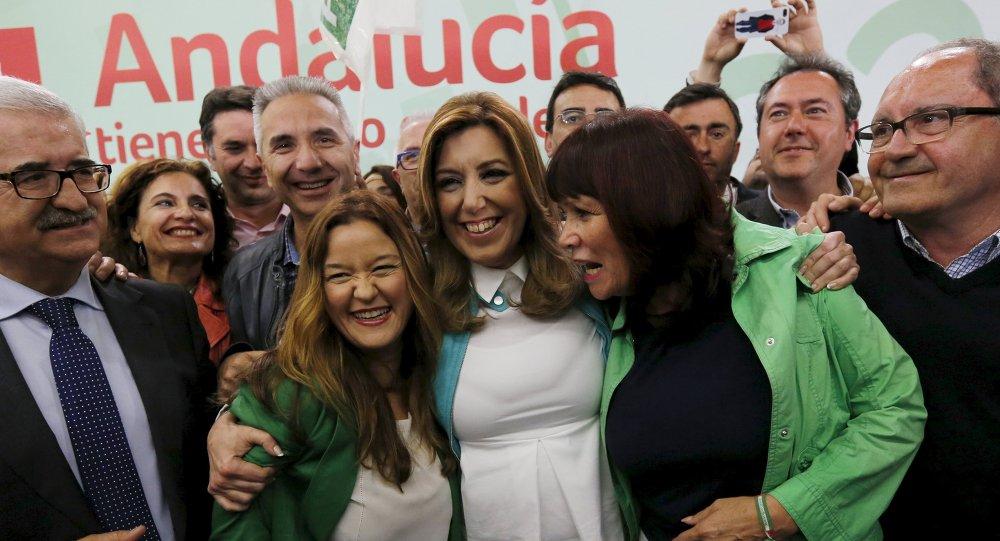 Susana Díaz, presidenta de Andalucía y candidata  del Partido Socialista (PSOE)