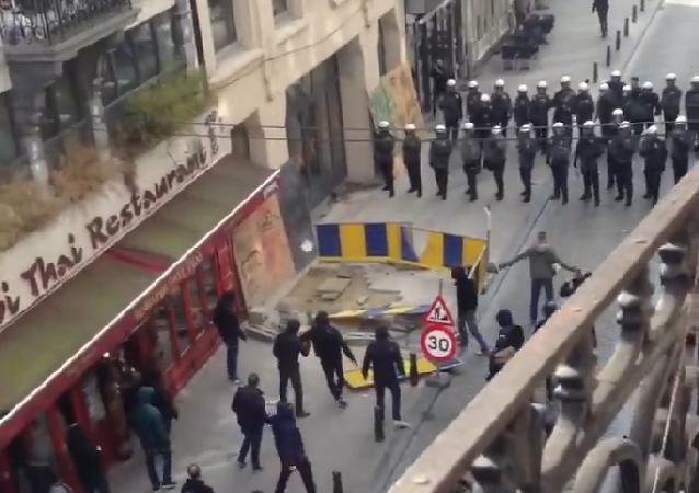 Disturbios en Bruselas ante la final de la Copa de Bélgica