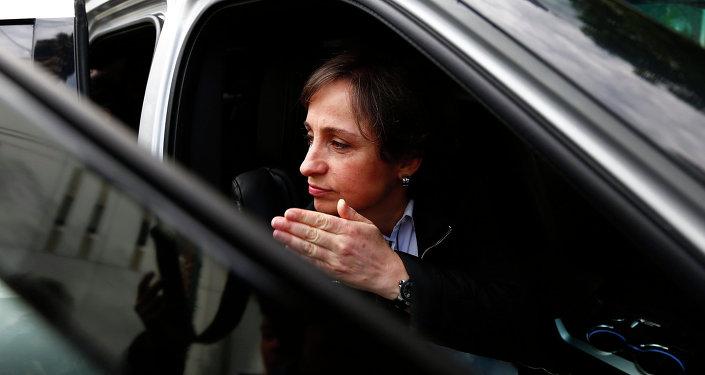 Periodista mexicana Carmen Aristegui