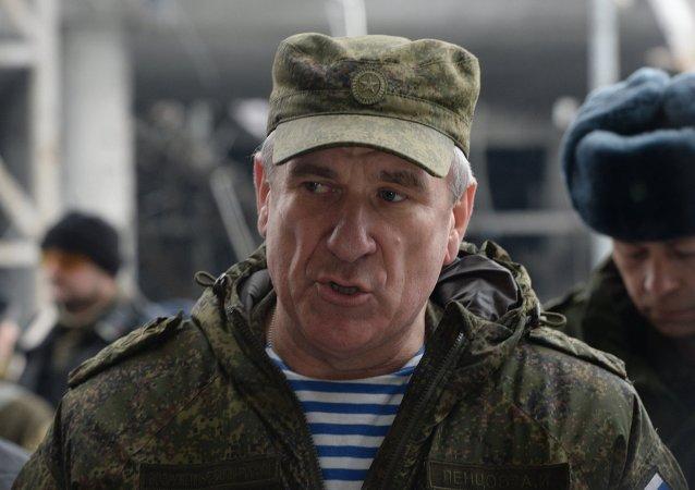 Coronel general Alexandr Lentsov, representante de las Fuerzas Armadas de Rusia en el Centro Conjunto para el Control y la Coordinación
