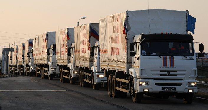 Convoy humanitario ruso (archivo)