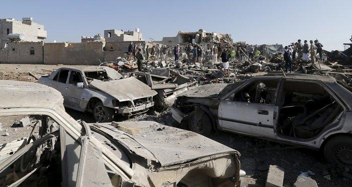 Situación en Saná después del ataque aéreo