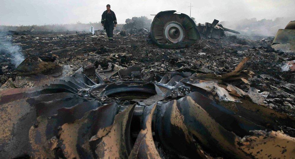 Lugar del siniestro del Boeing MH17 (archivo)