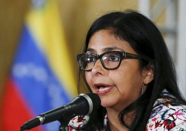 Delcy Rodríguez, ministra de Relaciones Exteriores de Venezuela (archivo)