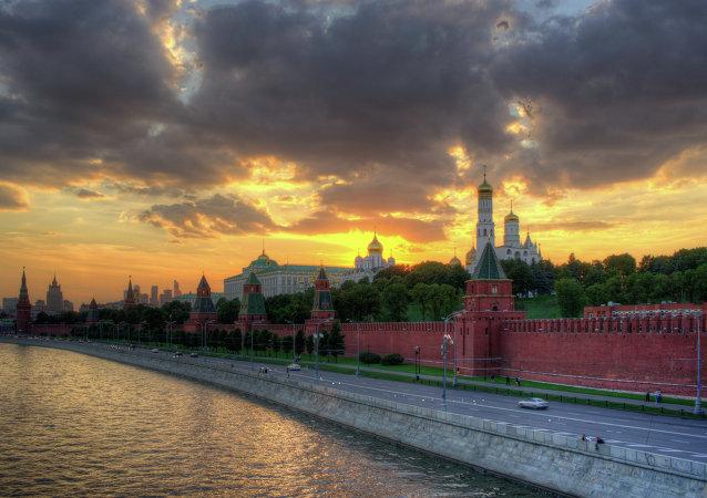 Kremlin. El atardecer en Moscú