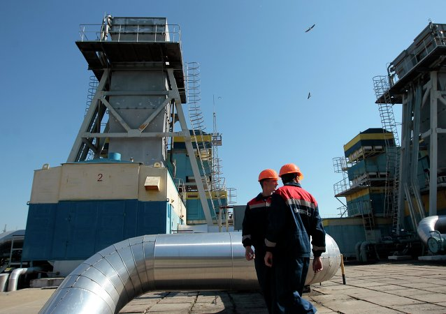Estación de distribución de gas en Uzhgorod, Ucrania
