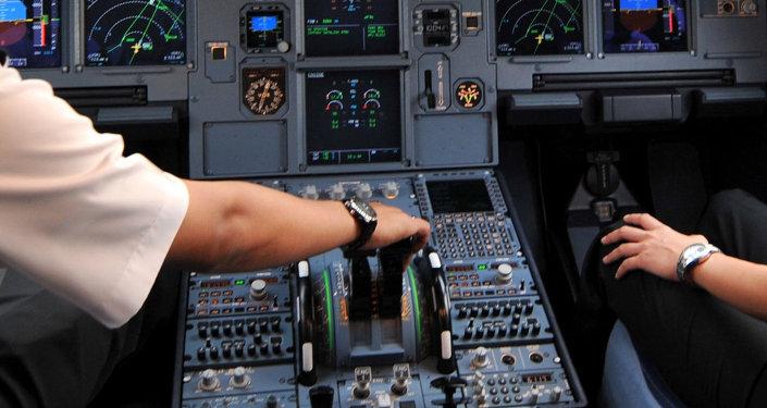 Cabina de pilotos del avión Airbus A320