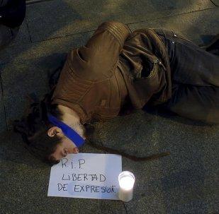 Manifestación contra la Ley Mordaza