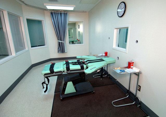 La cámara de ejecución de la Prisión Estatal de San Quentin (California)