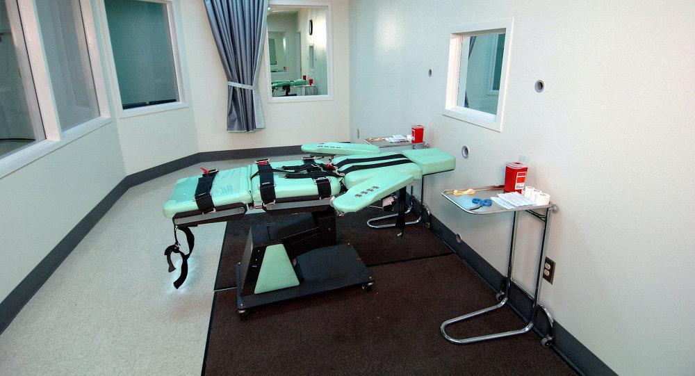 La sala de inyección letal en la prisión estatal de San Quintín, California