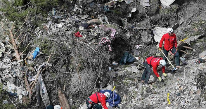Restos del avión de Germanwings accidentado en los Alpes