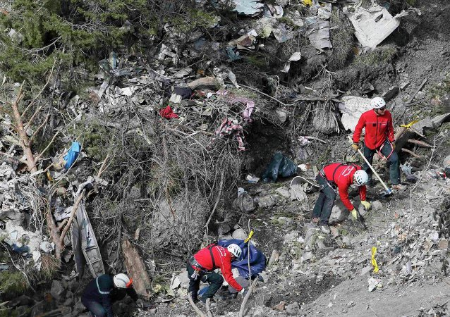 Lugar del accidente del Airbus A320 de la compañía Germanwings