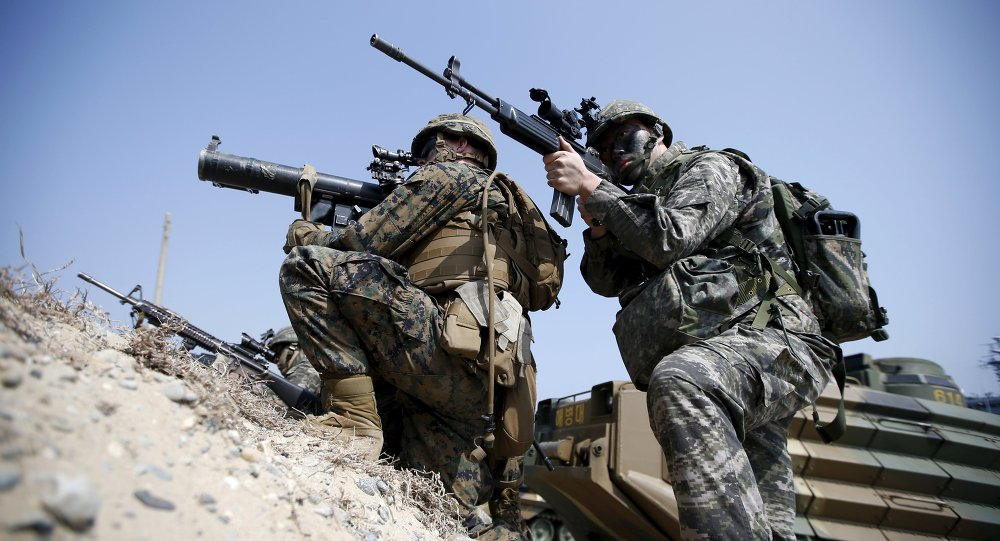 Unas maniobras militares conjuntas de EEUU y Corea del Sur (archivo)