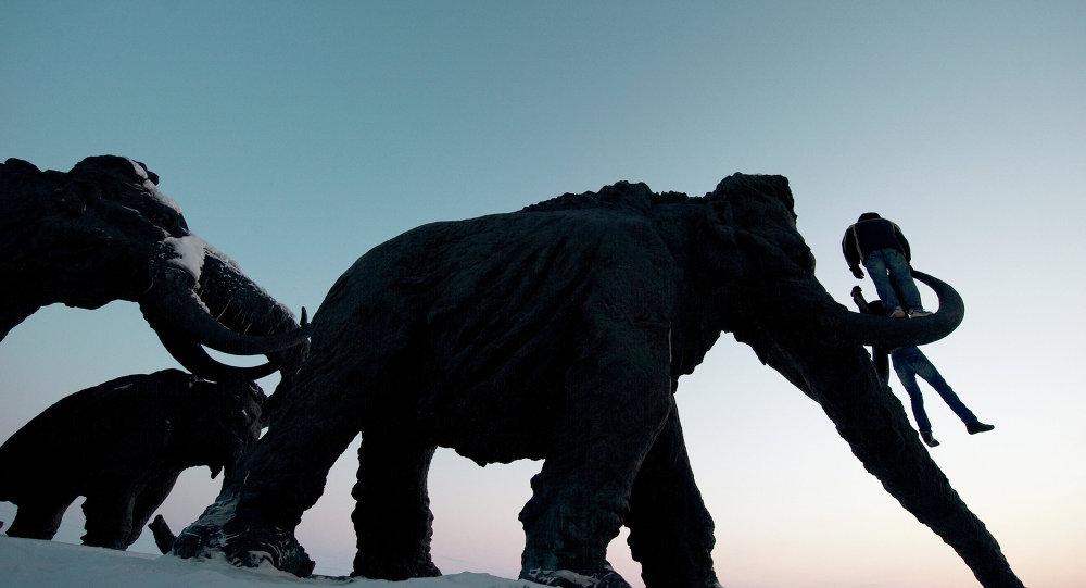 Un monumento de mamut