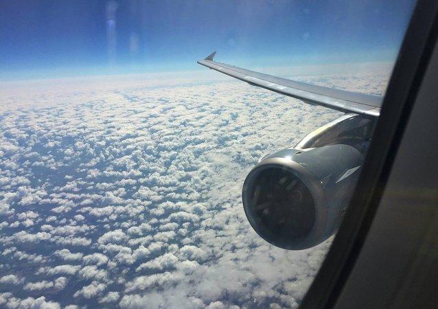 Vista por la ventana del Airbus A321 que operan vuelos de Germanwings