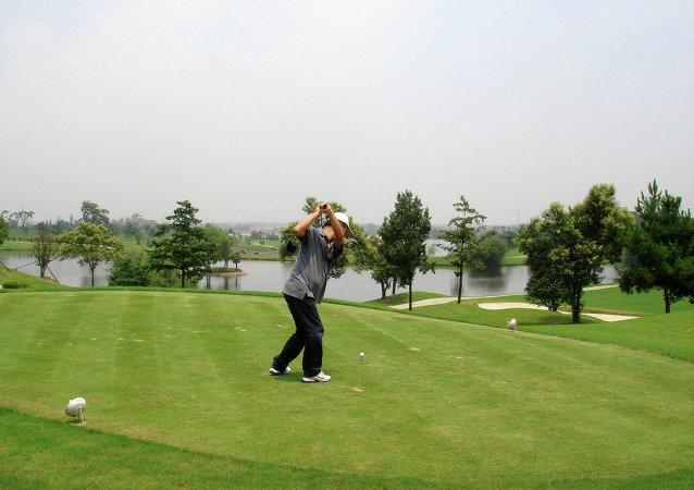 Campo de golf en China