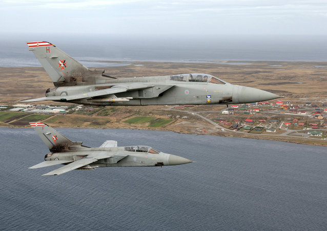 Los cazas británicos en el cielo de las Islas Malvinas