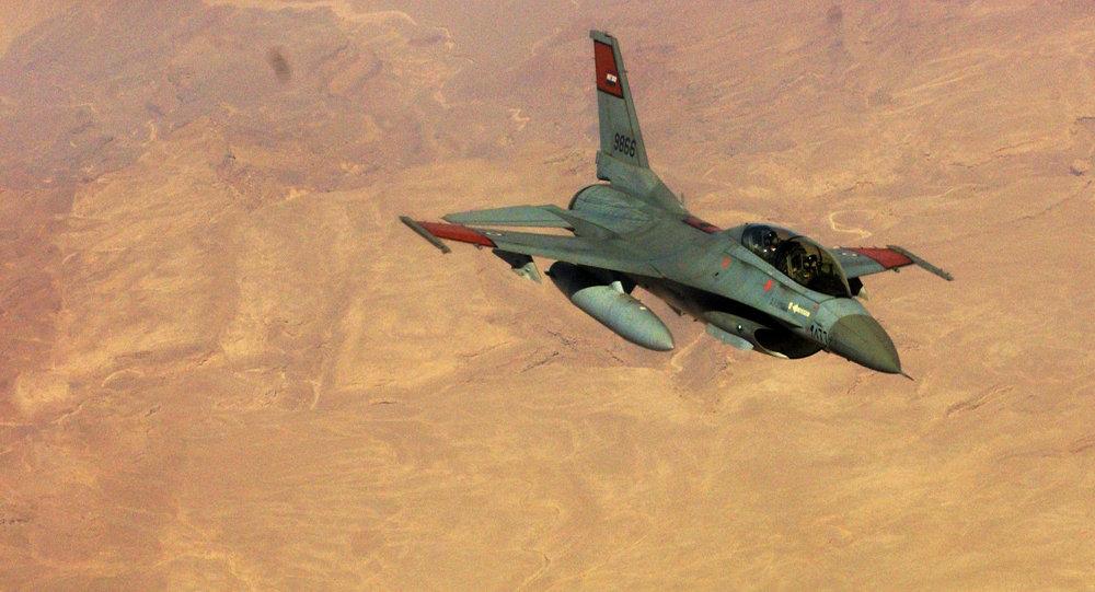 Caza F-16  de la Fuerzas Aéreas de Egipto