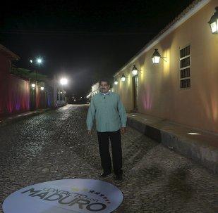 Nicolás Maduro, presidente de Venezuela, habla durante su programa semanal en contacto con Maduro