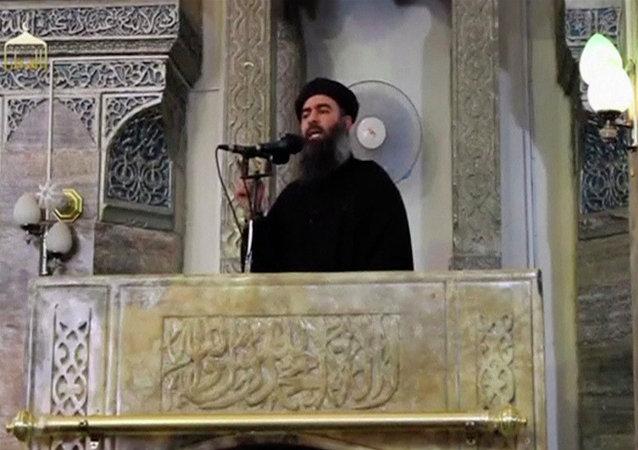 Abu Bakr al-Bagdadi, líder del grupo terrorista Daesh (archivo; captura de pantalla)