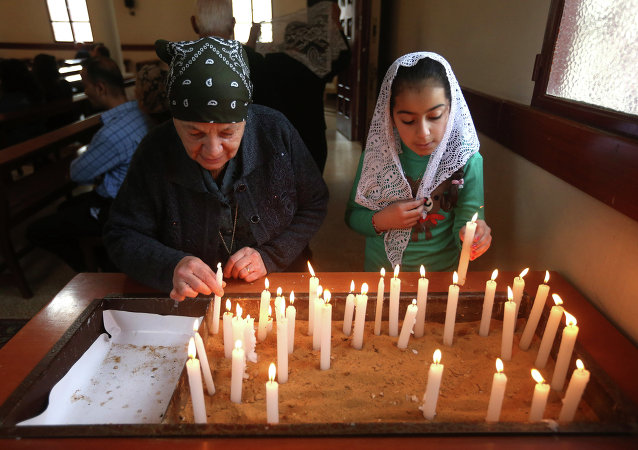 Una iglesia cristiana en el Líbano