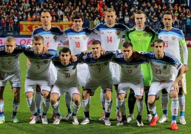 Jugadores de la selección rusa de fútbol