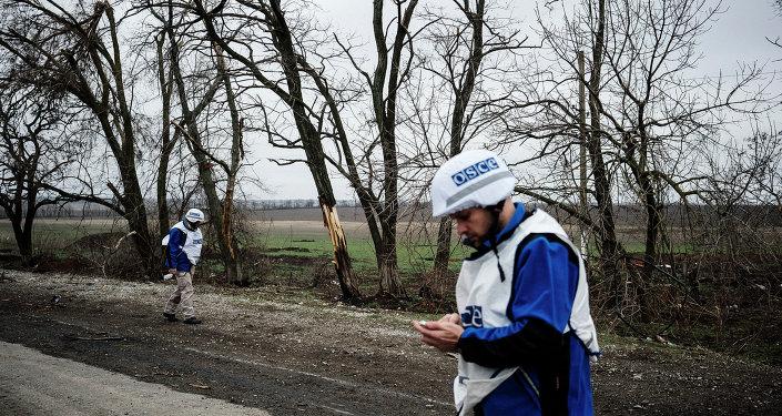 Observadores de la OSCE en Ucrania. 30 de marzo de 2015