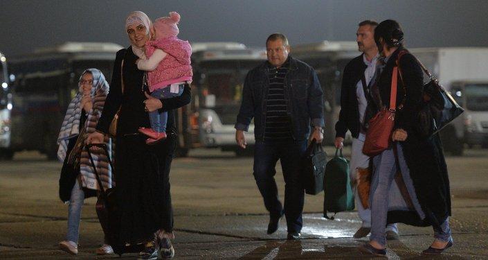 Personas evacuadas de Yemen