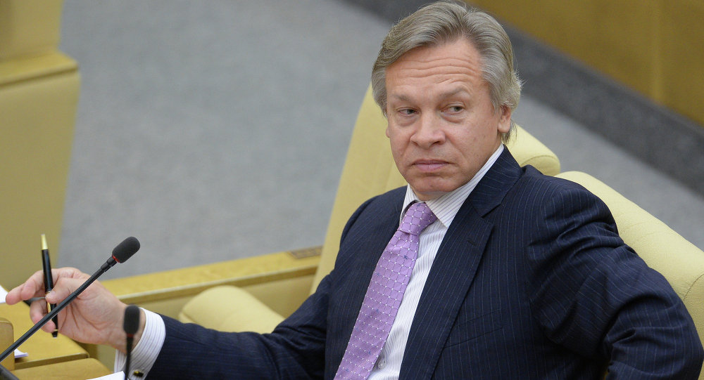 Alexéi Pushkov, presidente del Comité de Asuntos Internacionales de la Duma de Estado