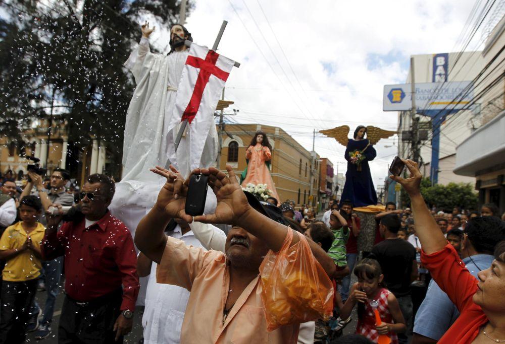 El Domingo de la Pascua  en Honduras
