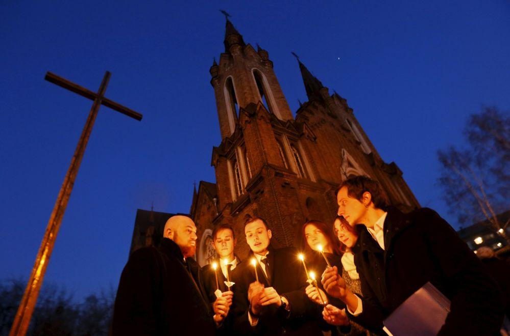 La fiesta de Resurrección de Jesucristo en la ciudad siberiana de Krasnoyarsk