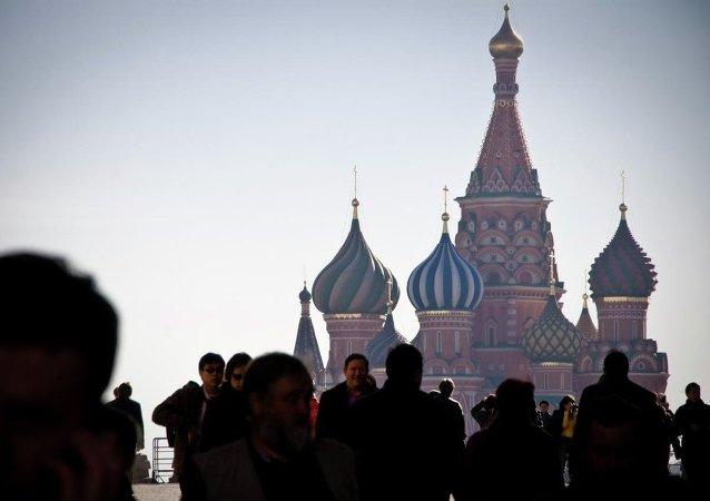 Gente en la Plaza Roja de Moscú