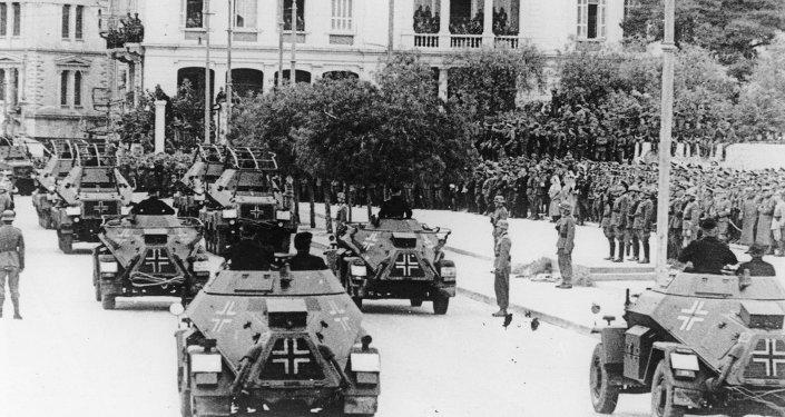 Soldados nazis en Grecia, 1941