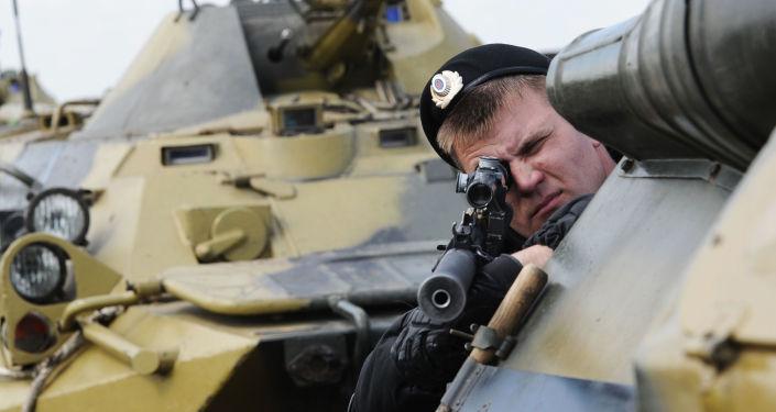 Los ejercicios militares en Rusia
