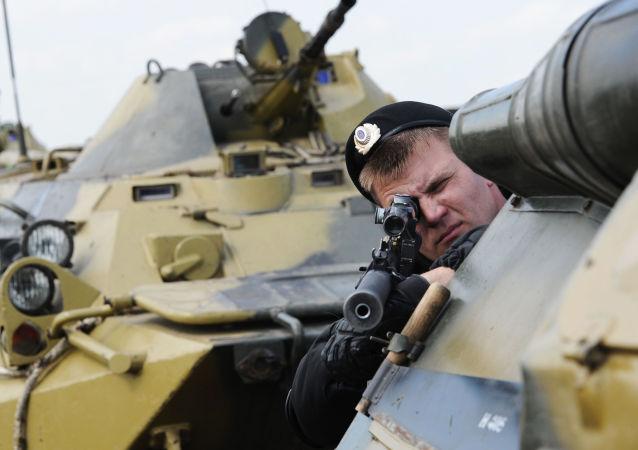 Ejercicios de las Tropas del Interior de Rusia