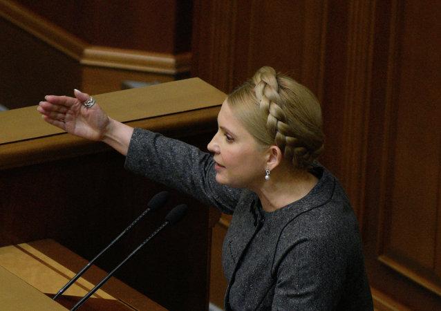 Yulia Timoshenko, ex primera ministra y líder del partido Batkivschina