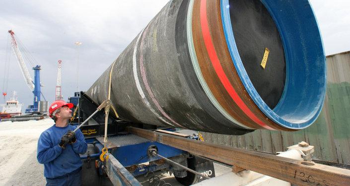 Construcción del gasoducto (Archivo)