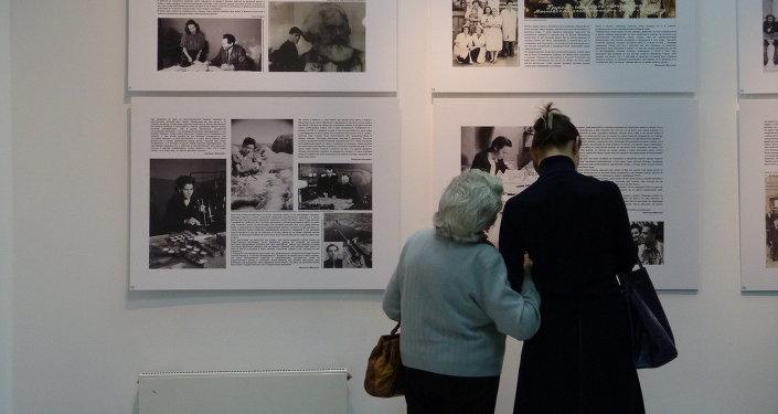 """Inauguración de la exposición """"Los niños de la guerra cuentan su vida, cuentan tu historia""""."""