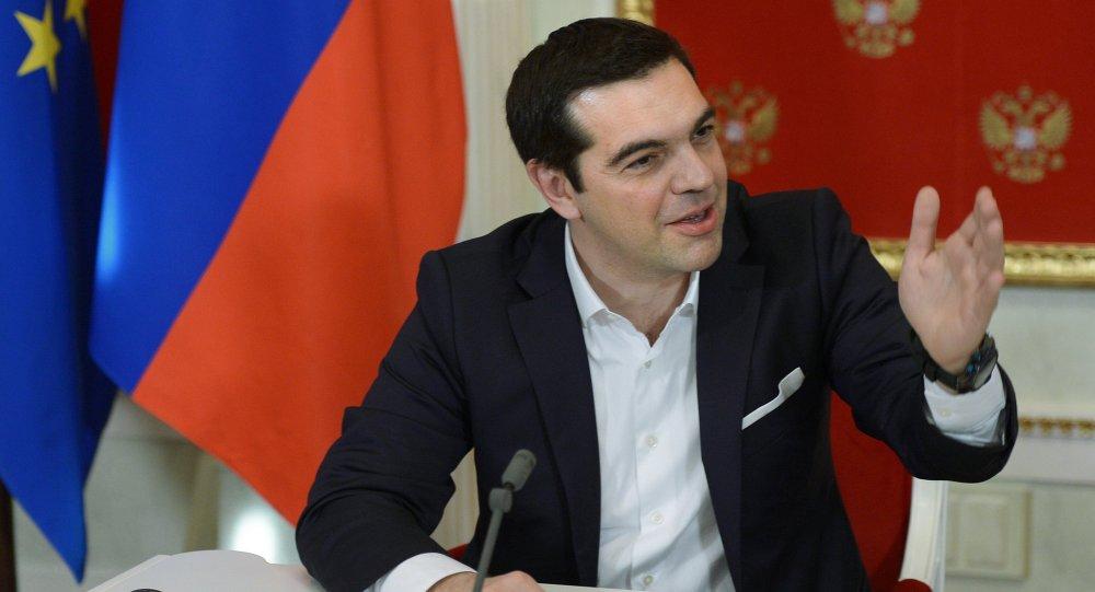 Alexis Tsipras, primer ministro de Grecia, durante su visite a Moscú