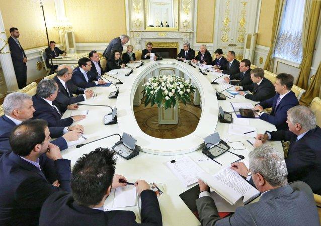 Rusia y Grecia, a punto de firmar un memorándum del nuevo gasoducto