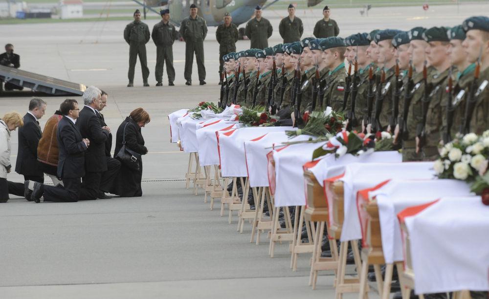 Accidente del Tu-154 del presidente polaco Kaczynski en abril de 2010